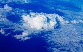 Обои кучевые, небо, облака