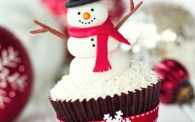Картинка праздник, Рождество, сладости, Новый год, Christmas, cake, New Year