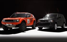 Картинка оранжевый, чёрный, Спорт, джип, внедорожник, Land Rover, Range Rover
