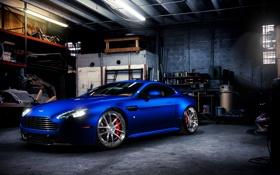 Картинка машина, синий, тачка, гораж, Fishy Aston 4
