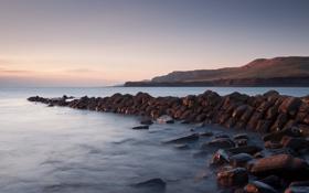 Картинка море, небо, вода, горы, камни, океан, берег