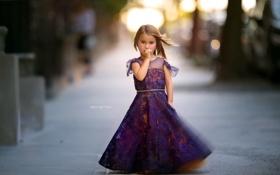 Картинка взгляд, улица, девочка