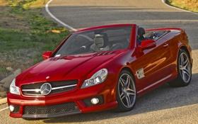 Обои красный, Mercedes-Benz, родстер, sexy, мерседес, передок, amg