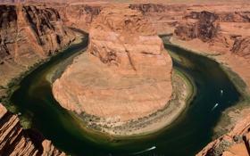 Картинка горы, река, скалы, каньон