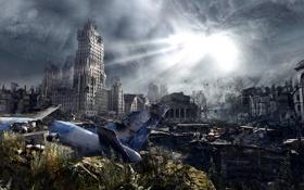 Картинка самолет, москва, россия, Metro Last Light, 2034