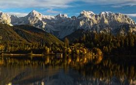 Картинка озеро, гора, quiet mountain