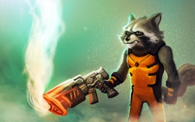 Обои Guardians of the Galaxy, raccoon, marvel comics, Rocket