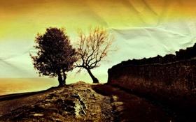 Обои пейзаж, природа, стиль