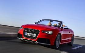 Картинка RS5, Audi, Ауди, Дорога, Передок, Красный, Фары
