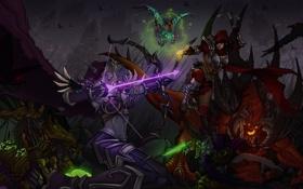 Картинка starcraft, Warcraft, diablo, Demon Hunter, Zeratul, Sylvanas, Heroes of the Storm