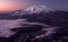 Картинка mountain, dawn, mt ruapehu