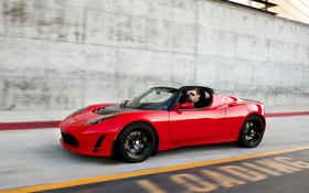 Обои tesla, roadster, version 2011