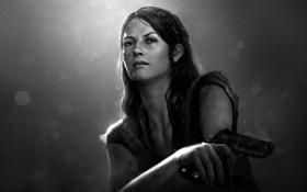 Обои девушка, пистолет, оружие, выжившие, The Last of Us, Tess, Naughty Dog