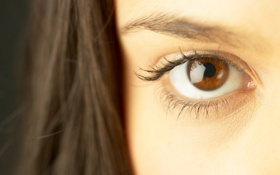 Обои взгляд, девушка, глаз