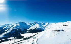 Обои пейзаж, небо, фото, обои, склоны, деревья, мороз