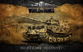 Обои Германия, танки, WoT, World of Tanks, Ferdinand, ПТ-САУ, SD. KFZ. 184 Elefant