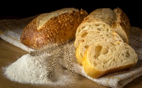 Картинка еда, хлеб, мука