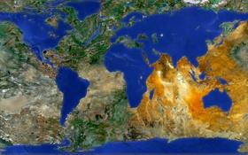 Картинка океан, земля, карта, материк, наоборот