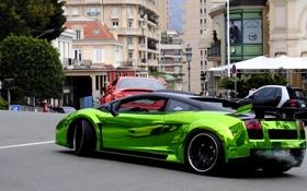 Картинка Lamborghini, Gallardo, Green, Chrome, Exclusive