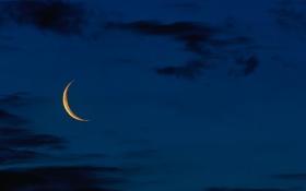 Обои облака, Луна, сумерки