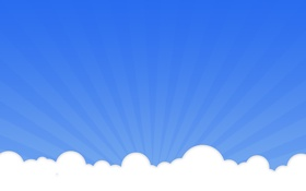 Картинка белый, облака, стиль, фон, голубой, пейзажи, минимализм