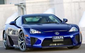 Обои синий, Lexus, blue, лексус, AU-spec, LFA