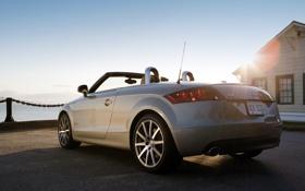 Картинка ракурс, задок, Audi, небо, солнце, Roadster