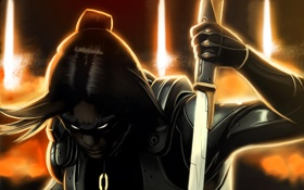 Обои поза, блики, меч, Mass Effect, Kai Leng
