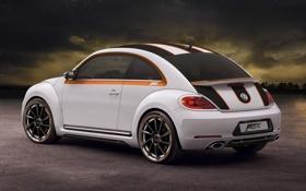Картинка фон, тюнинг, Volkswagen, Жук, вид сзади, tuning, Beetle