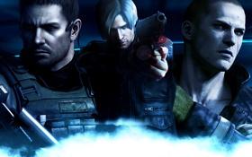 Картинка wallpaper, Resident Evil 6, Leon Scott Kennedy, Chris Redfield