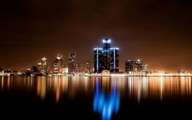Обои United States, Detroit, Michigan