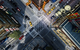 Обои машины, перекресток, китайский квартал, Grand Theft Auto IV