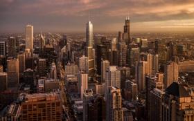 Обои небоскребы, Чикаго, США, мегаполис