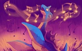 Картинка глаз, ноты, Покемон, морской зверь