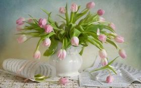 Картинка цветы, тюльпаны, натюрморт