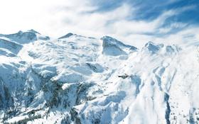 Картинка зима, горы, фото, пейзажи, зимние обои, морозы, снега