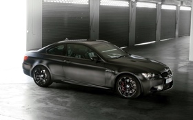 Обои свет, чёрный, bmw, бмв, купе, coupe, гараж.ворота