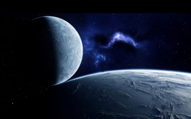 Картинка космос, звезды, туманность, планеты, галактика, space, созвездия