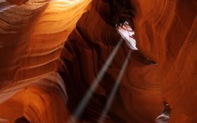 Обои свет, природа, скала, камни, скалы, камень, пещера