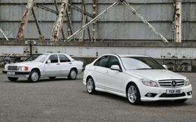 Картинка белый, фон, Mercedes-Benz, Мерседес, седан, передок, and