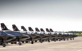 Обои аэродром, North American, T-2 Buckeye, учебныё самолёты