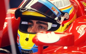 Обои alonso, formula one, spanish, spain, 2010, eyes, italy