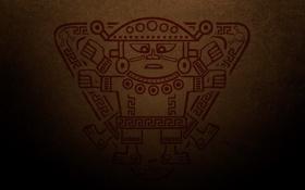 Обои рисунок, человечек, индейцы, индеец, инки, да винчи был индейцем, Витрувианский