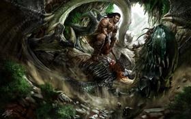 Картинка blood, death, warrior, creature, axe of battle