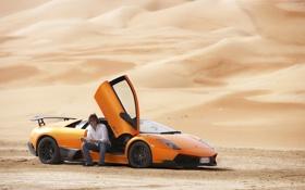 Обои песок, Lamborghini, Top Gear, Murcielago, Ламборгини, LP670-4, самая лучшая телепередача