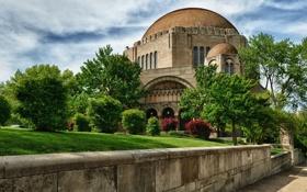 Обои храм, Кливленд, Cleveland, синагога