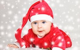 Обои santa, child, baby, Christmas, New Year, Рождество, праздник