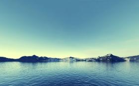 Обои Небо, Вода, Море, Горы, Скалы, Снег