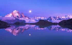 Картинка горы, озеро, Природа