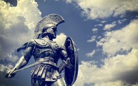 Картинка soldier, statue, Sparta, modern day